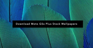 Download Moto G5s Plus Stock Wallpapers