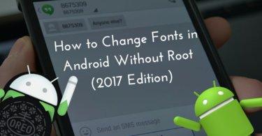 Change Fonts