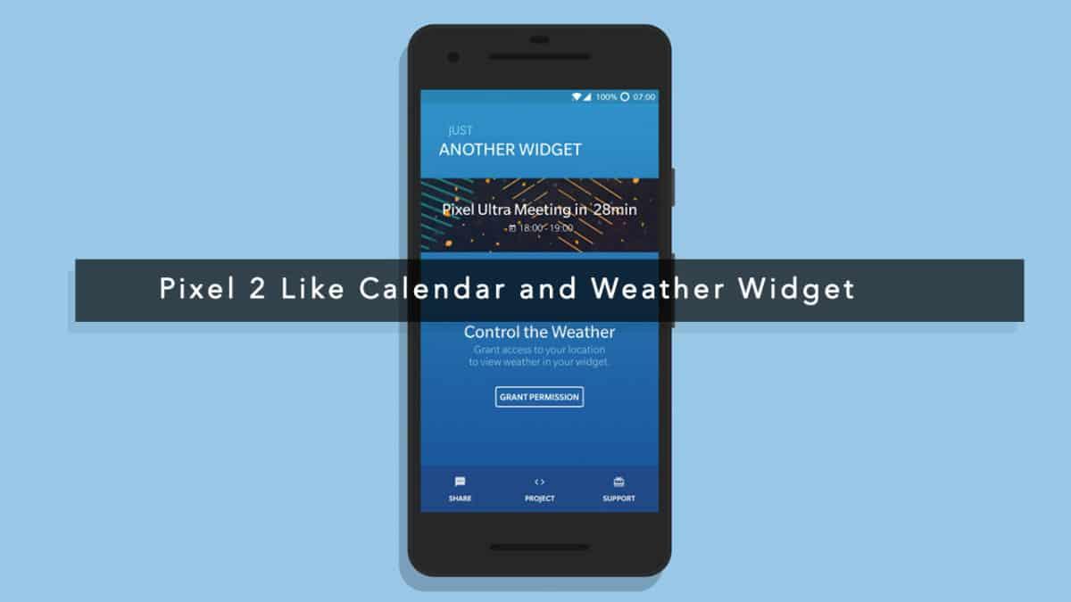 Pixel 2 Like Calendar and Weather Widget