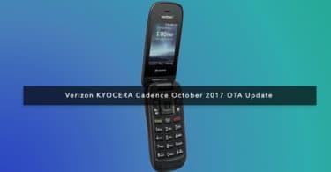 Verizon KYOCERA Cadence October 2017 OTA Update