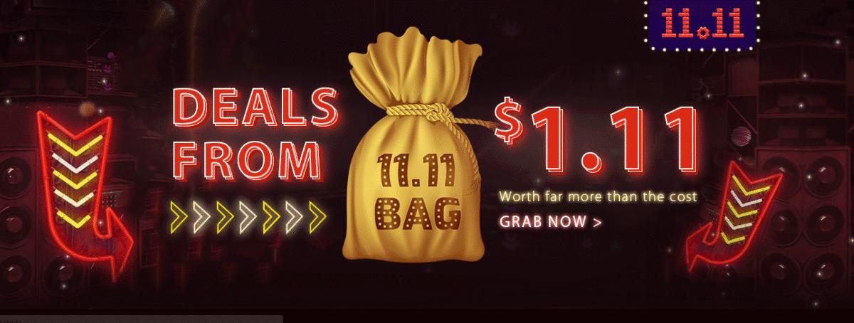 Gearbest 11.11 Lucky Bag offer