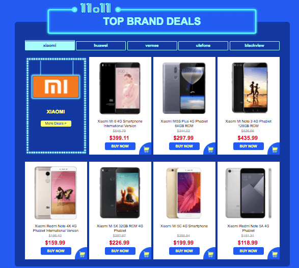 Top Brand Sale -Gearbest 11.11 Mobile Gadgets Sale