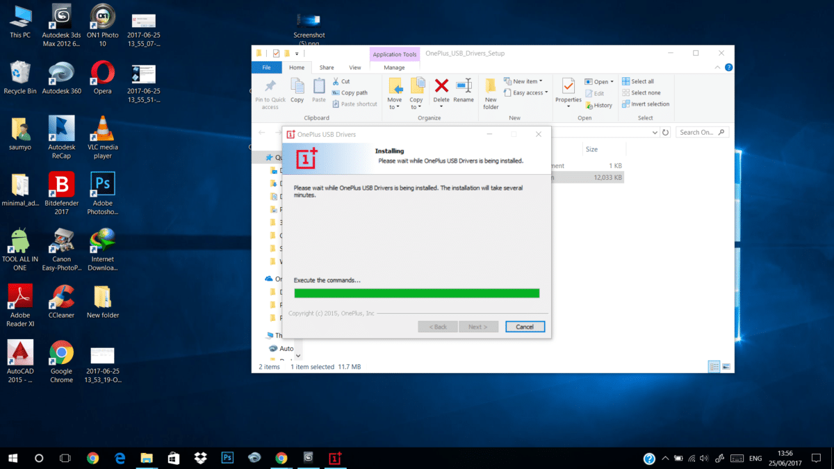 OnePlus 5t USB Drivers Installation Starts
