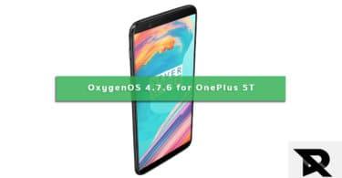 OxygenOS 4.7.6 For OnePlus 5T (Full ROM + OTA)