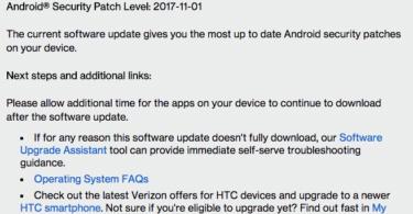 HTC 10 November 2017 Security Patch OTA Update