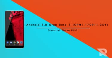 Android 8.0 Oreo Beta 3 On Essential Phone PH-1(OPM1.170911.254)