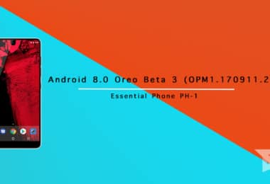 Android 8.0 Oreo Beta 3 On Essential Phone PH-1 (OPM1.170911.254)
