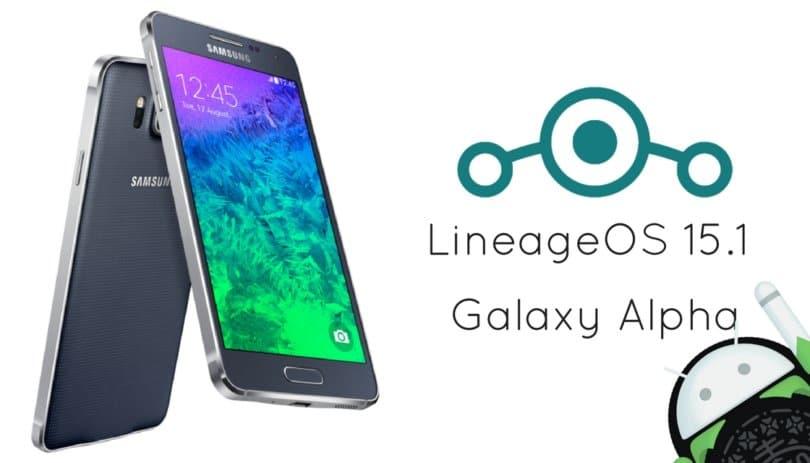 LineageOS 15.1 on Galaxy Alpha