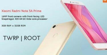 Root Xiaomi Redmi Note 5A Prime/Redmi Y1