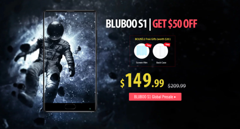 Deal 50$ off On Bluboo S1