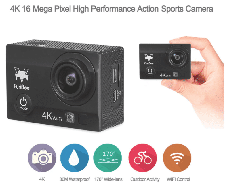 FuriBee Q6 WiFi 4K Action Cam Specifications