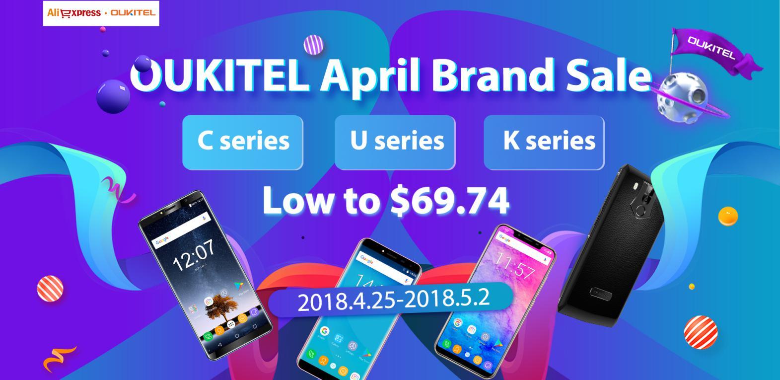 OUKITEL April brand sale