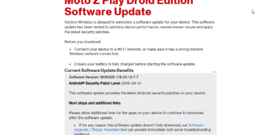 Verizon Moto Z Play DroidNDNS26.118-23-12-7-7 April 2018 Security Patch OTA Update