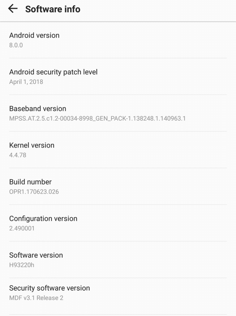 LG V30 H93220H Android 8.0 Oreo