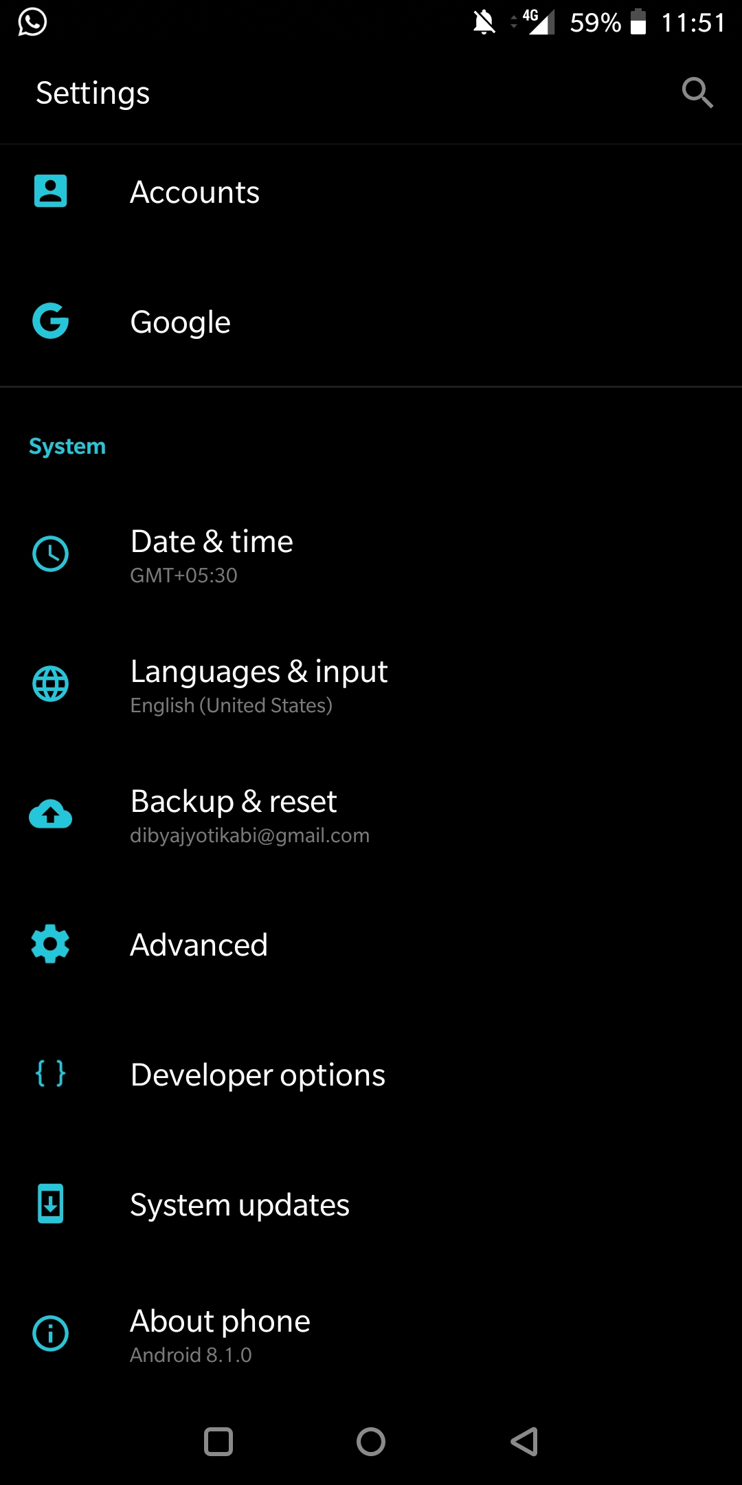 ManuallyCheck System Software Update On OnePlus