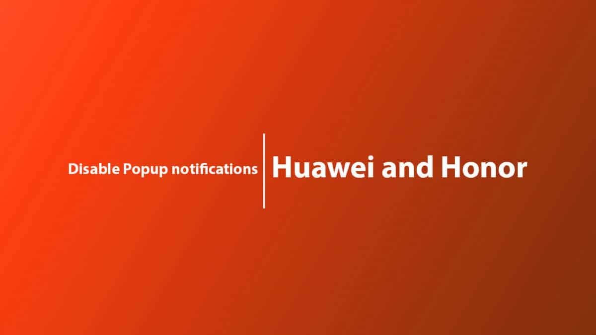 Disable Popup notifications on Honor Magic 2