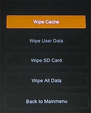 clear / wipe cache partition on Xiaomi Mi A2