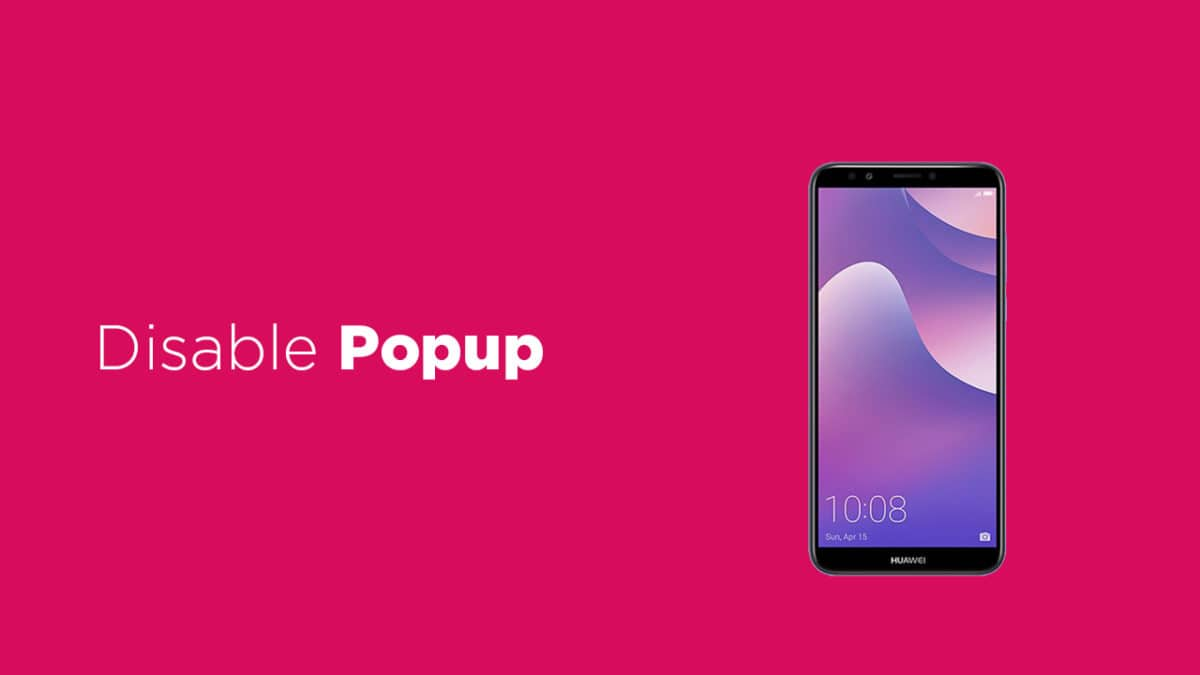 Disable Popup notifications on Huawei Y7 Pro (2019)