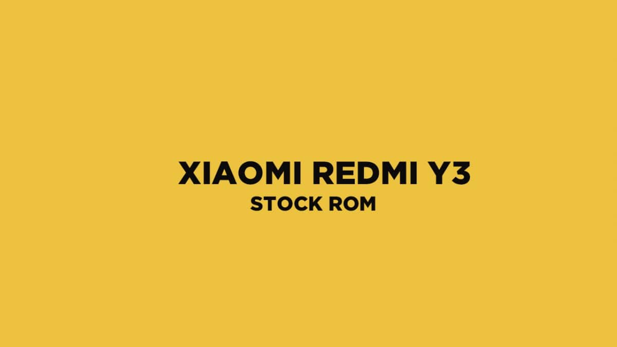 Redmi Y3 Stock Firmware