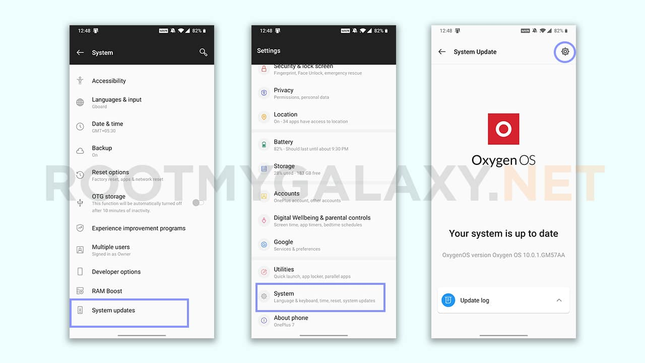 OnePlus 7 and 7 Pro Local System Update Method