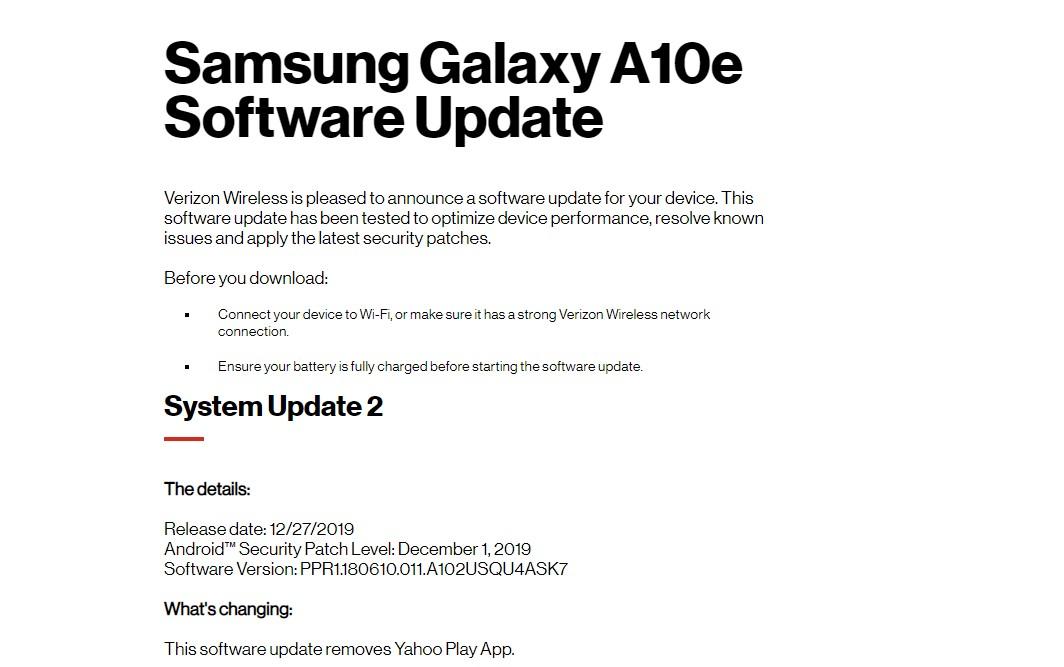 Galaxy A10e PPR1.180610.011.A102USQU4ASK7