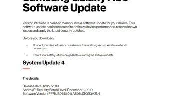 Galaxy A50 PPR1.180610.011.A505USQS3ASL4 Update Verizon
