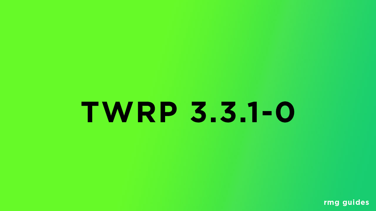 TWRP 3.3.1-0 Recovery