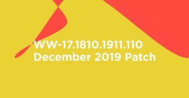 WW-17.1810.1911.110: Download Asus Zenfone 6 (Asus 6Z) December 2019 Patch