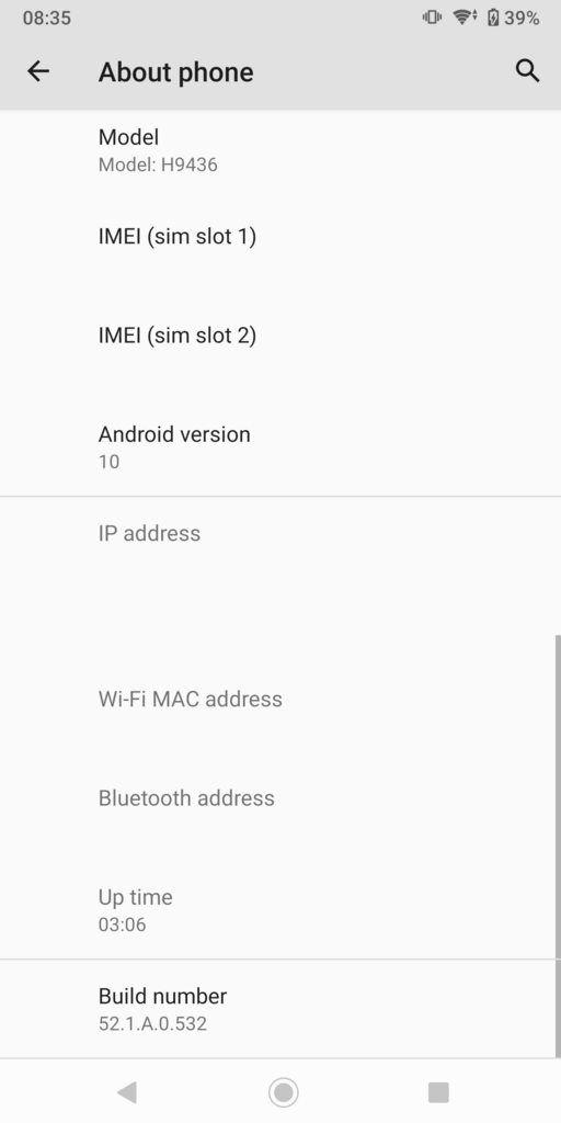 {52.1.A.0.532} Android 10 Update For Xperia XZ3, XZ2, XZ2 Compact & XZ2 Premium