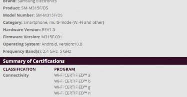 Samsung Galaxy M11, M31 & A11 get Wifi certification