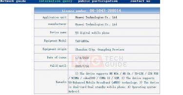 Huawei Mate Xs gets TENAA certification before launch