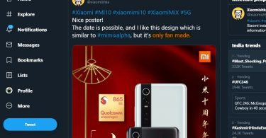 This is a fan made Xiaomi Mi 10 leak, not an official one