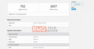 Now OnePlus 7 running Android R appears on Geekbench