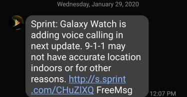 Sprint Samsung Galaxy Watch will soon receive VoLTE calling support