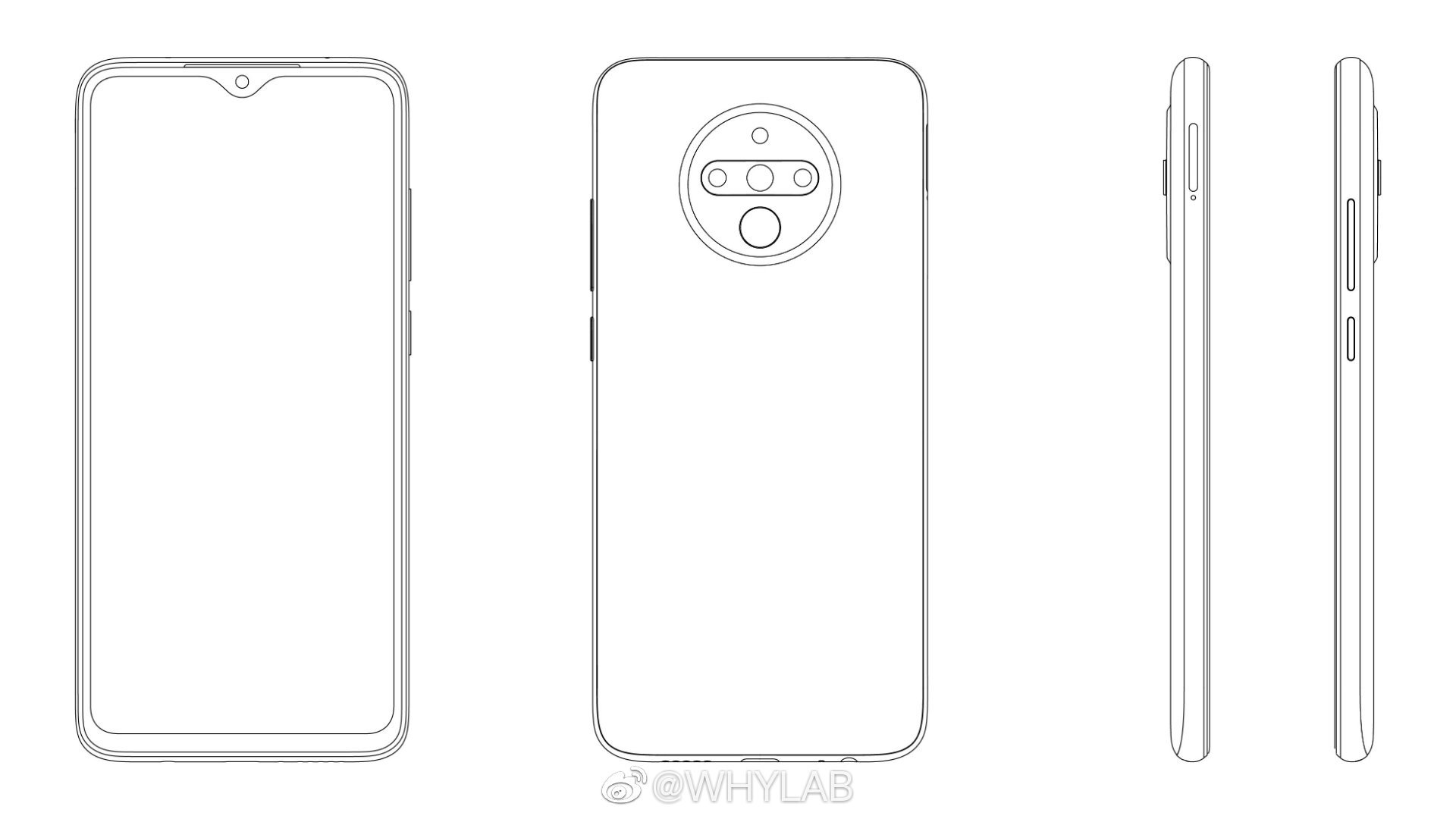 Xiaomi patents a new phone design, probably for Redmi Note 9