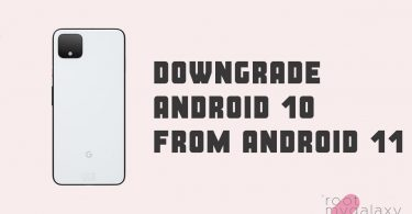 Downgrade Android 10 from Android 11
