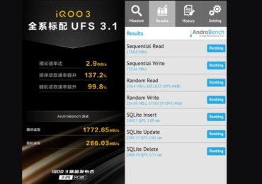 iQoo 3 coming soon in India, UFS 3.1 storage speed seems higher than Xiaomi Mi 10