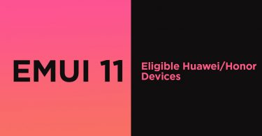 List of Eligible Huawei/Honor devices to get EMUI 11 update