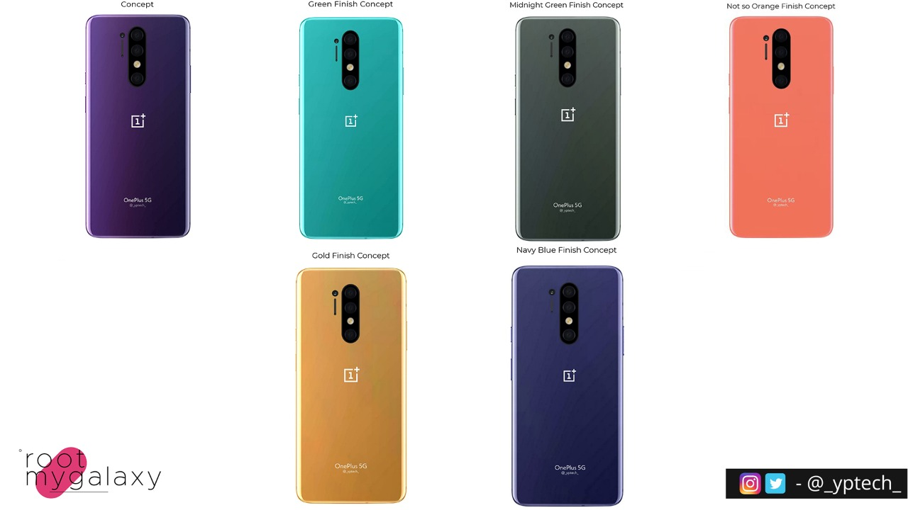 OnePlus 8 Pro unofficial renders in different color options