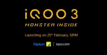 iQOO 3 with Snapdragon 865 will be launched in India via Flipkart on 25h February