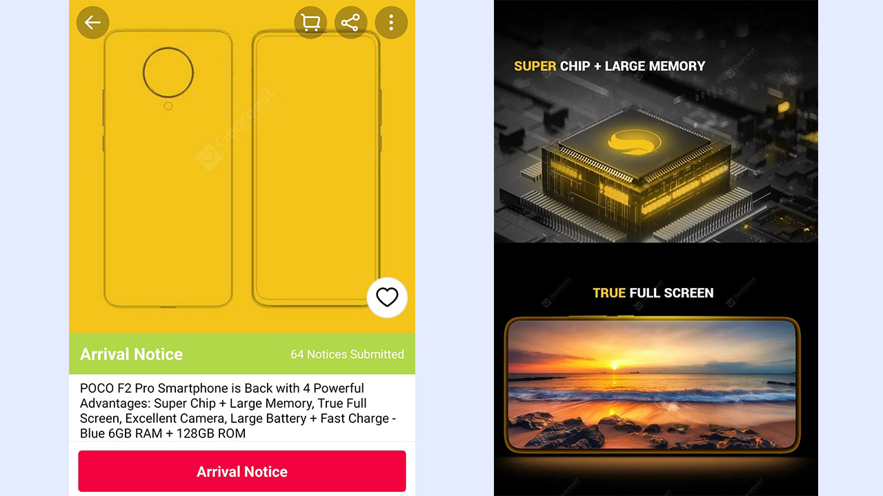 Poco F2 Pro landing page is live on gearbest