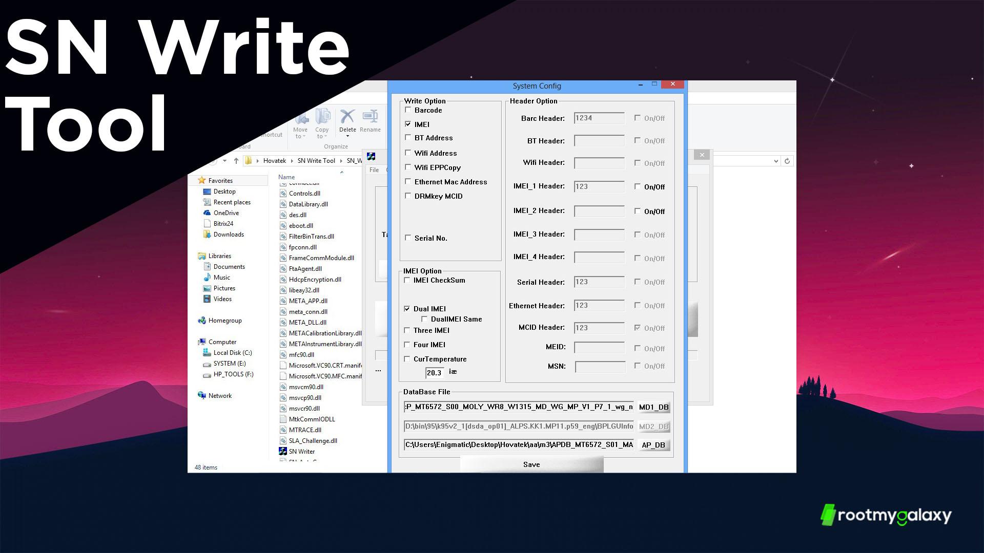 قم بتنزيل أحدث إصدار من أداة الكتابة SN Flash وإصلاح مشكلة IMEI 1