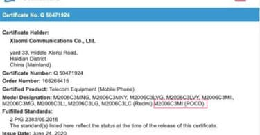 Redmi 9A with POCO branding spotted on TUV Rheinland certification