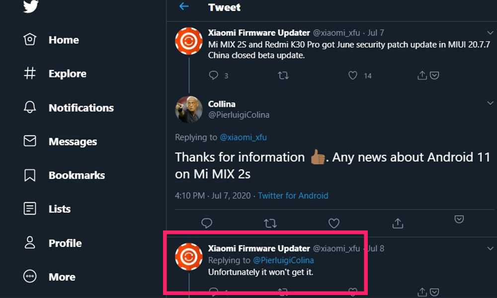 {Won't be getting} Xiaomi Mi MIX 2S Android 11 (R) Update Tracker