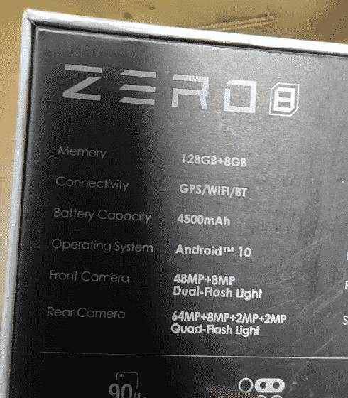 Infinix Zero 8 specifications