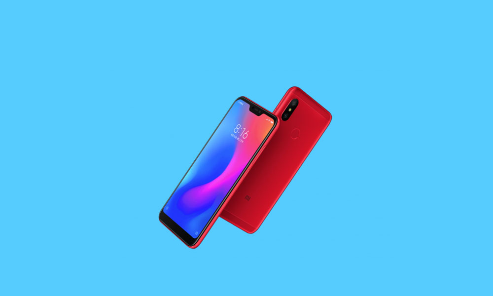 V12.0.1.0.PDICNXM: Redmi 6 Pro MIUI 12 China Stable ROM rolls out (Download inside)
