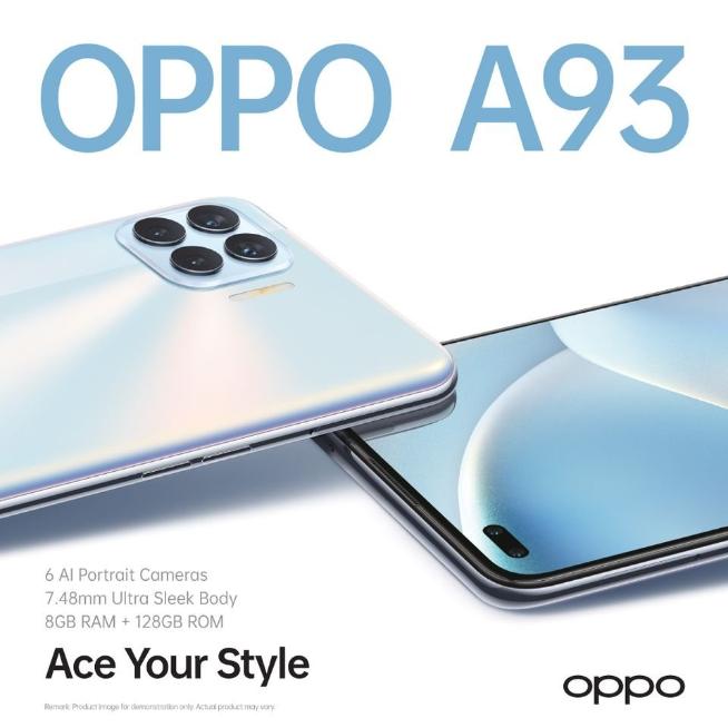 OPPO A93 design