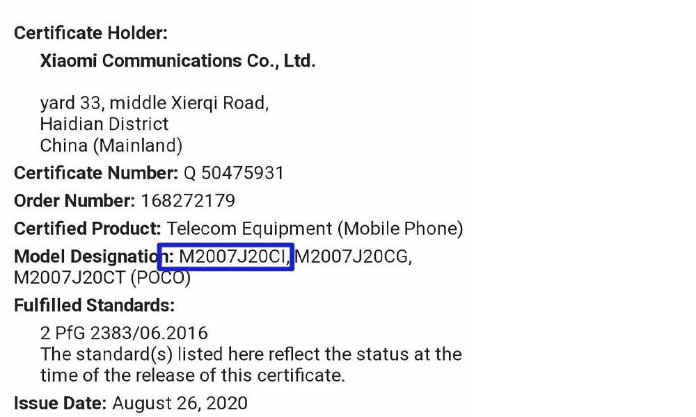 POCO X3 NFC Indian variant clears TUV Rheinland certification