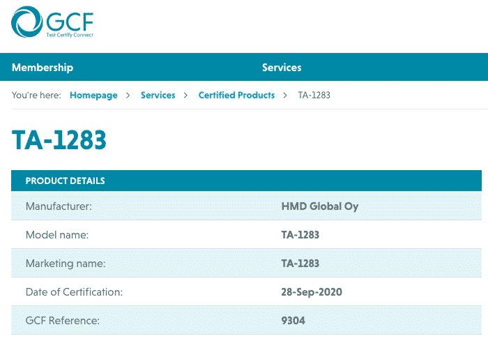 Nokia TA-1283 GCF