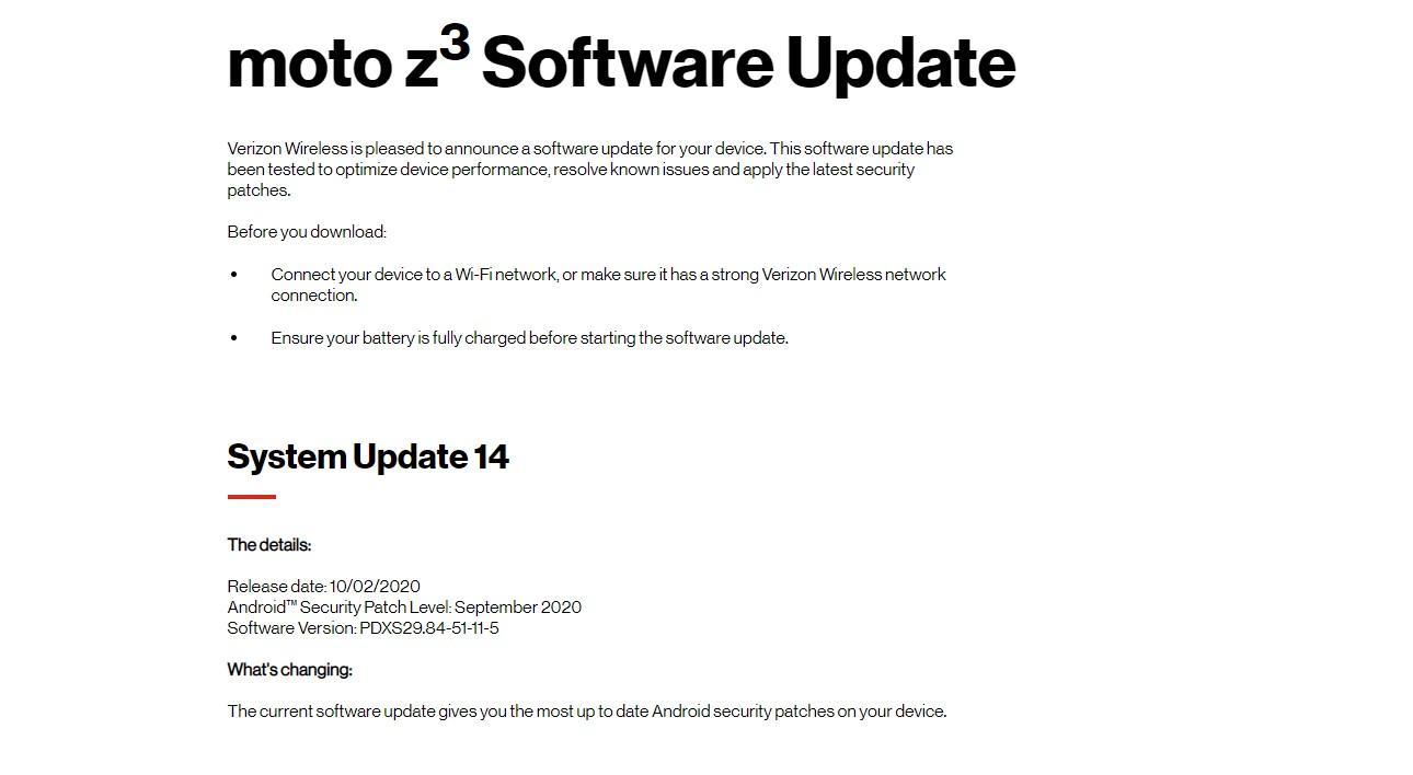 Verizon Moto Z3 bags September security ( PDXS29.84-51-11-5)